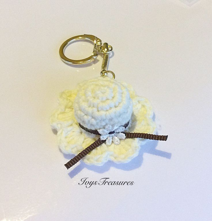 A personal favourite from my Etsy shop https://www.etsy.com/au/listing/290494453/sun-hat-crochet-key-chain