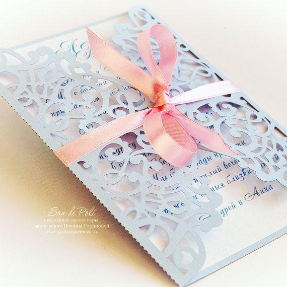 Florecer la invitación de la boda tarjeta de patrón de 5 x