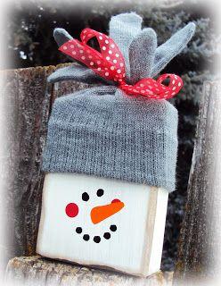 Inking it Up: Snowman Block