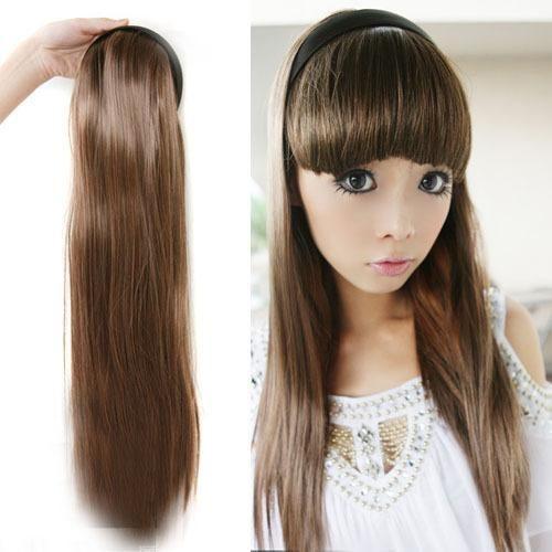 Girl Women's Sexy Fashion Straight Half-head Hair band Hair Extension Stylish Free shipping Drop shipping LX0032