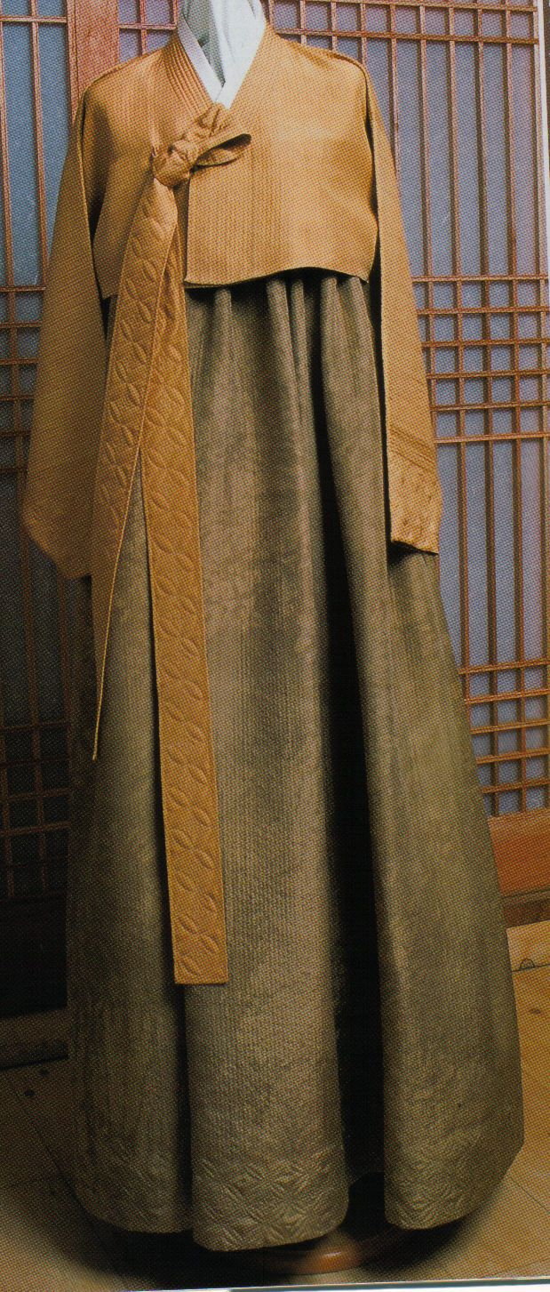 Contemporary Hanbok in muted tones