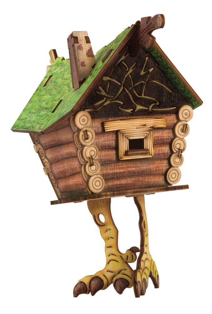 Konstruktor Iz Fanery Model Izbushki S Figurkoj Babyyagi Sobrannuyu Model Mozhno Raskrasit Wooden Puzzles Bird House Wooden