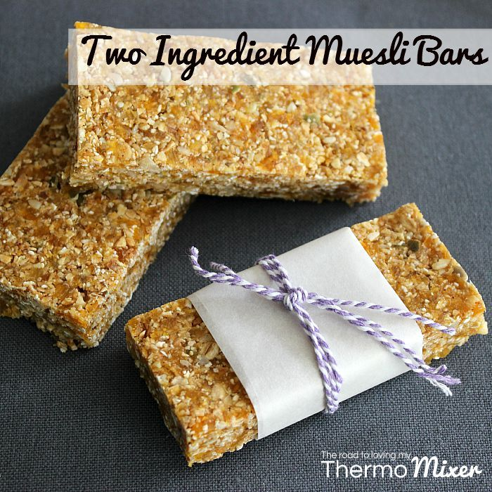 Two Ingredient Muesli Bars | The Road to Loving My Thermo Mixer