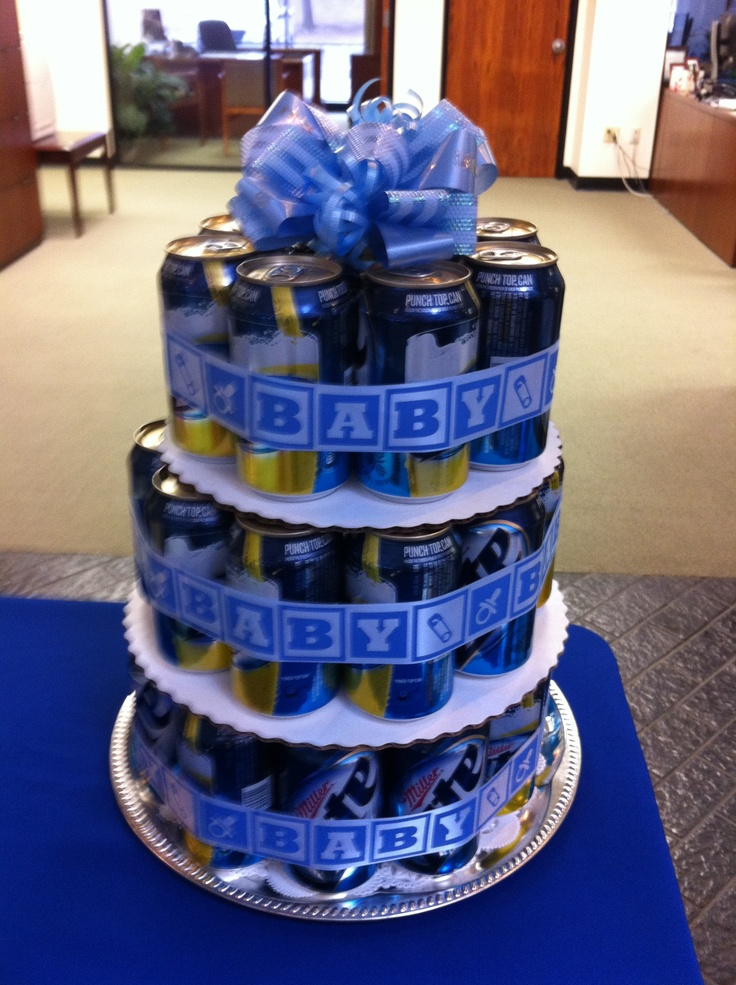 Boy Baby Shower: Beer Cake for Daddy