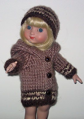 Hand knit hooded sweater & hat.