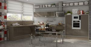 Cozinha Planejada Italinea Branco Frassino Capuccino