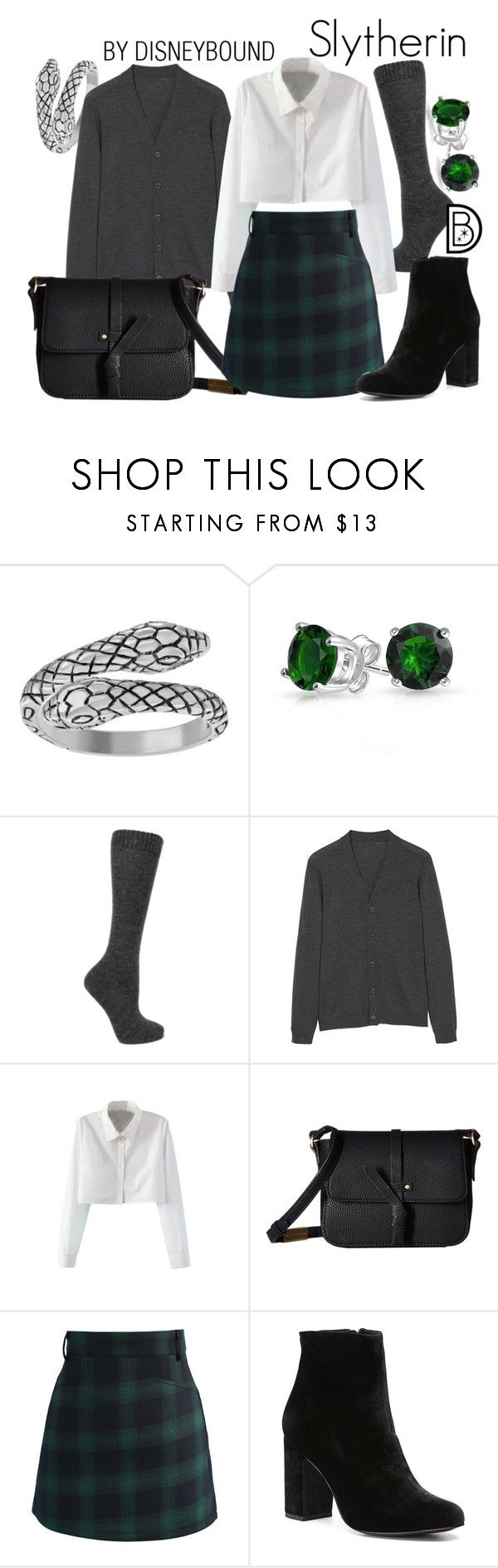 """Slytherin"" by leslieakay ❤ liked on Polyvore featuring Journee Collection, Bling Jewelry, Isabel Marant, MANGO, WithChic, Foley + Corinna, Chicwish, Witchery, harrypotter and slytherin"