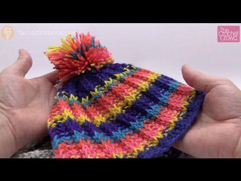 Tunisian Rib Stitch Hat - YouTube