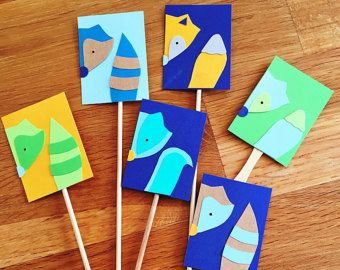Forest animals / woodland creature cupcake toppers
