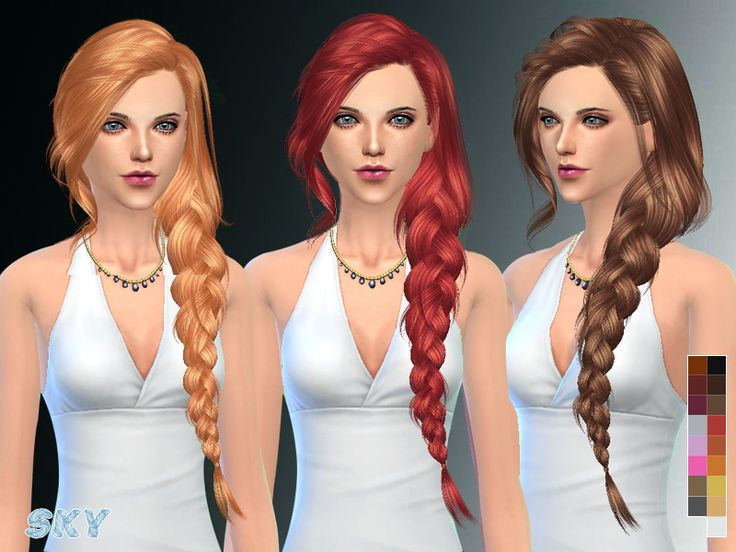 skysims female adult hair  Found in TSR Category 'Sims 4 Female Hairstyles'