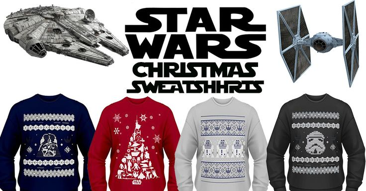 Star Wars Ugly Christmas Sweatshirts (Why Not Sweaters?!)