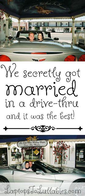 we secretly got married eloped technically in a drive thru wedding chapel in las vegasneun