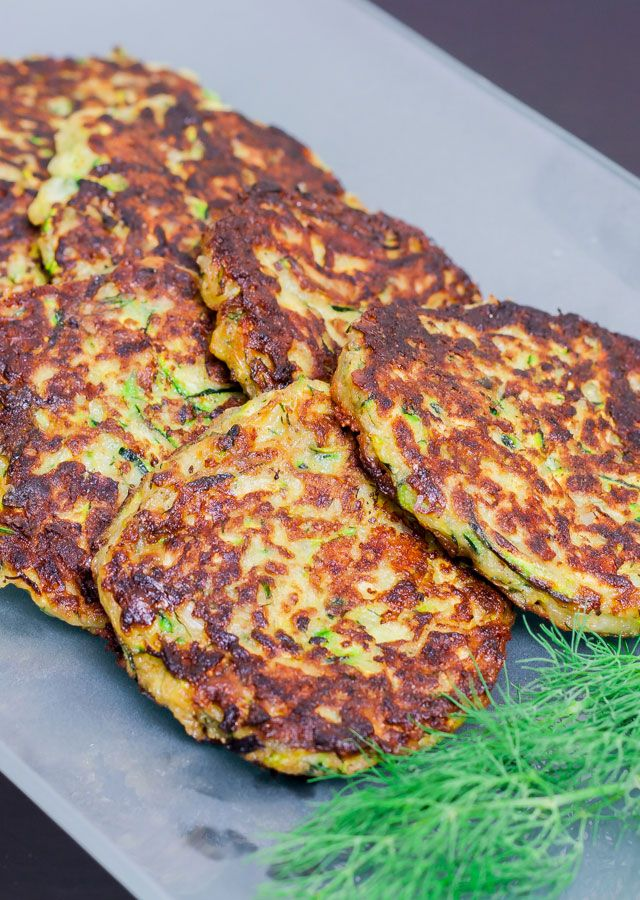 Zucchini Patties with Provolone and Parmesan Cheese. Yum!
