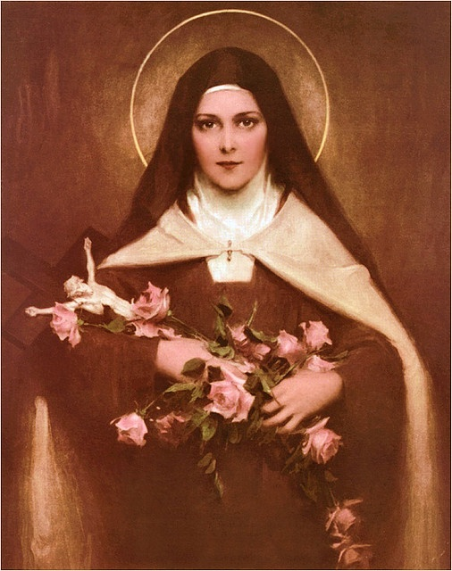 st. therese-she will spend her heaven doing good on earth-