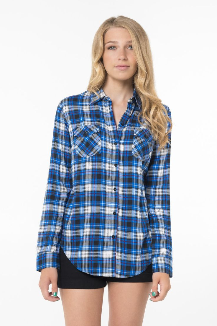 Blue & White plaid shirt