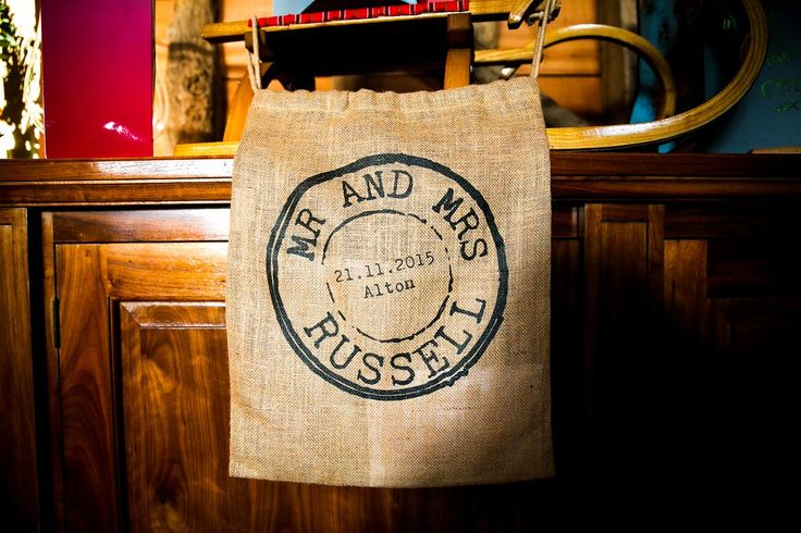 Wedding card sack from Claire & Oli's Austrian themed wedding SMP Weddings: Sussex based female wedding photographer. Photojournalist creating highly atmospheric images which burst with personality and emotion
