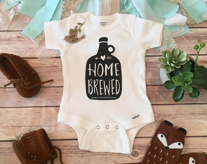 Homebrewed Onesie®, Home Brewed, Funny Onesies, Unique Baby Gift, Beer Onesie, Unisex Baby Gift, Funny Baby Clothes, Funny Baby Shower Gift