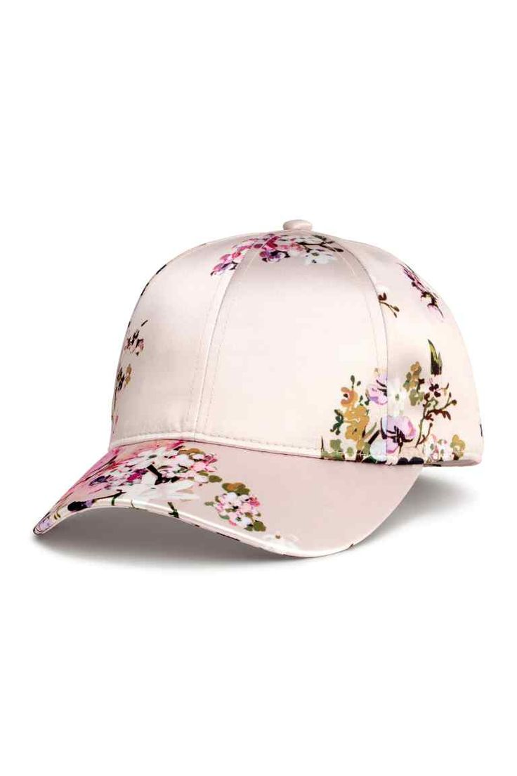 Satin cap - Powder/Floral - Ladies | H&M GB 1