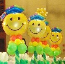 10 unids/lote graduación decoración cara sonriente globos de papel de aluminio de gran tamaño inflable del helio fuentes del partido del globo envío gratis(China (Mainland))