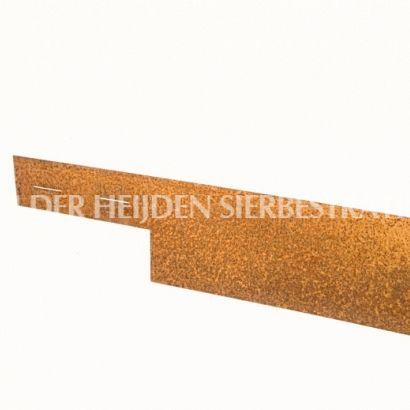 Kantopsluiting Cortenstaal 3mm ongecoat  225x10,2 cm incl. 3 pennen - Van der Heijden Sierbestrating