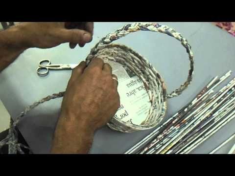 cestaria com jornal MODULO 8 - YouTube