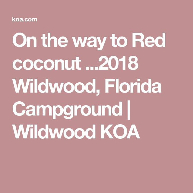 On the way to Red coconut ...2018  Wildwood, Florida Campground | Wildwood KOA