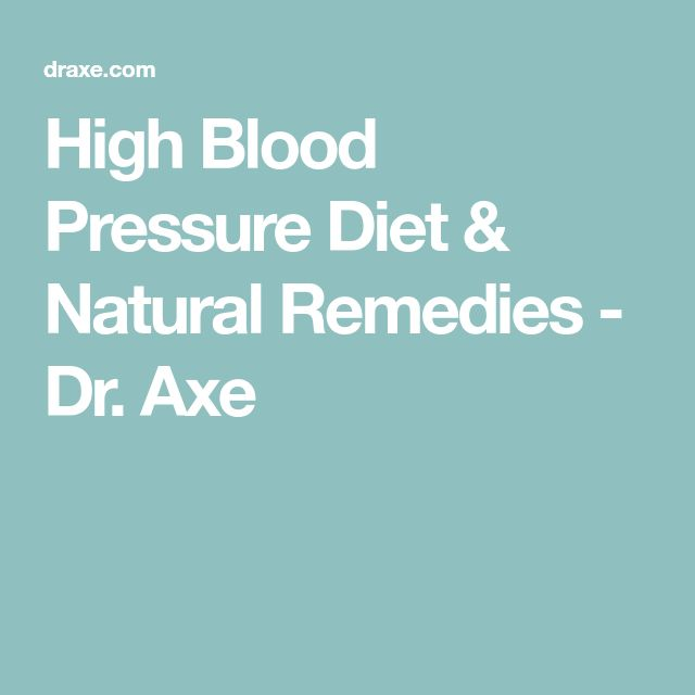 how to fix low blood pressure without medication