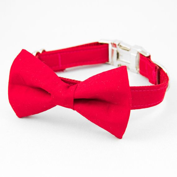 Red - Bow Tie Collar