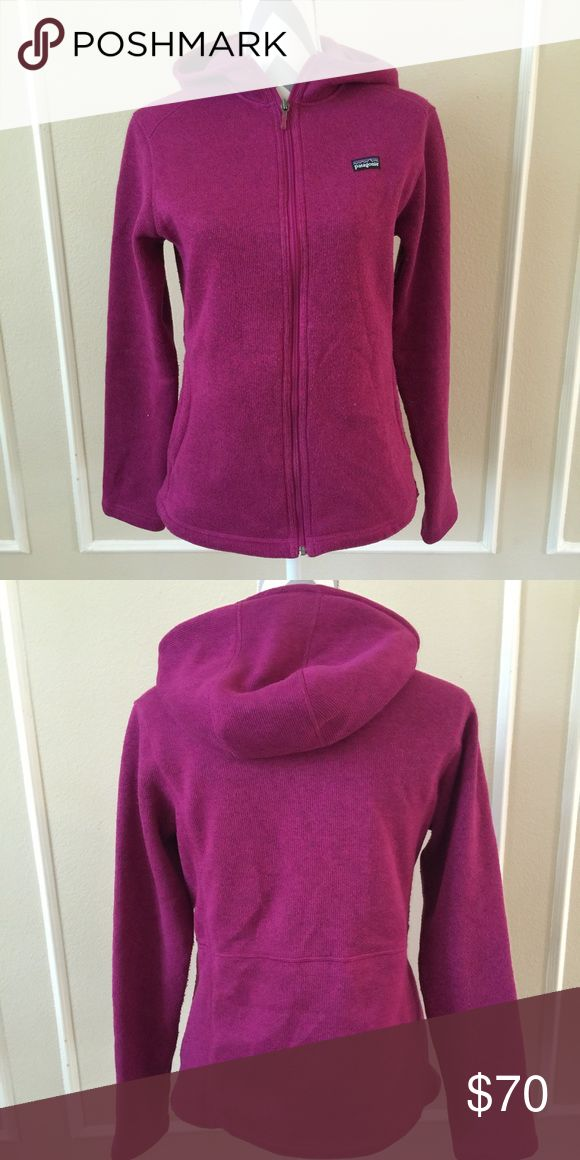 Patagonia sweater Jacket This a great, warm zip up sweater jacket with pockets, hooded, in good used condition. There is some pilling on some spots that is only noticeable only when you look very close. It is a size XXL 16-18. Patagonia Jackets & Coats