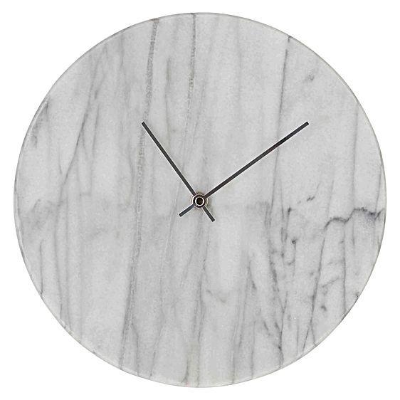 Marcella Marble Wall Clock by Amalfi