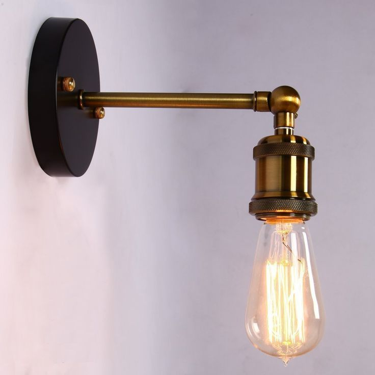 Lightess Industrial Wall Sconce Lighting Vintage Brass Metal Lamp Fixture 1 light, Wall Lamps & Sconces - Amazon Canada