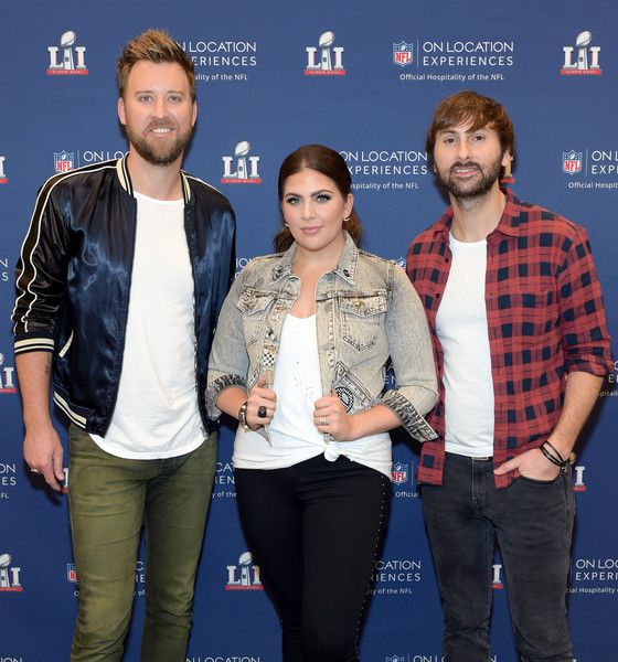 Charles Kelley Photos Photos - (L-R) Recording artists Charles Kelley, Hillary Scott, and Dave Haywood of Lady Antebellum at On Location Experiences' Super Bowl LI Pre-Game Events at NRG on February 5, 2017 in Houston, Texas. - On Location Experiences' Super Bowl LI Pre-Game Events at NRG