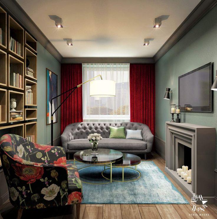 Гостиная от Atria Magna. Современная классика. Апартаменты. Дизайн апартаментов