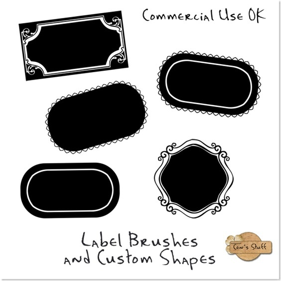 Free labes brushes from 'Cens Loft'