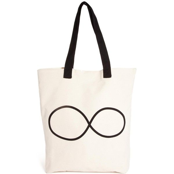 Pull&Bear Infinity Canvas Shopper Bag (¥790) found on Polyvore