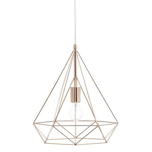 The Lighting Book SWORD copper triangular wire work prism ceiling pendant
