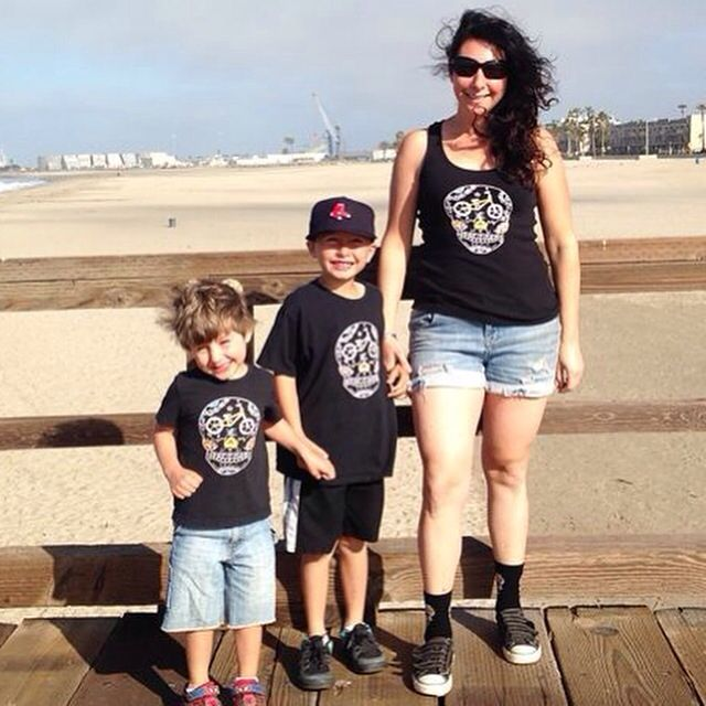 Awesome sugar skull bike shirts for the whole family in sale now at  https://www.etsy.com/shop/DiaDeLosBicycles