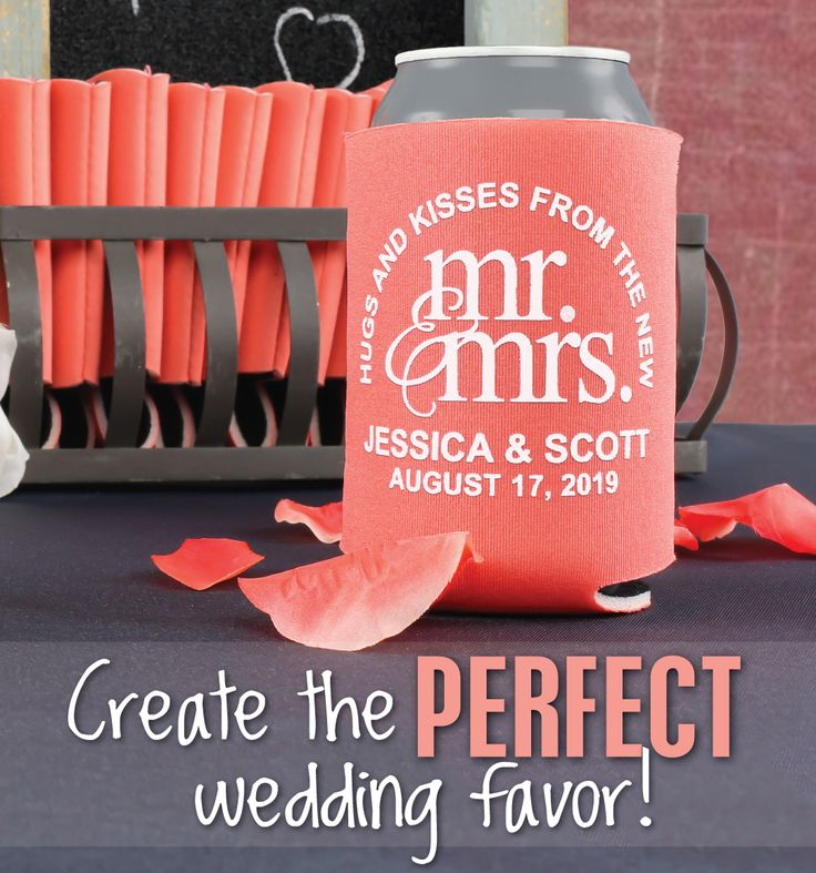 Create the perfect wedding favor with us, your guests can use these can coolers well after your wedding is over! You will also receive a FREE bride & groom can cooler with every online order! Use coupon code PINTEREST10 and receive 10% off your wedding koozie order! Sale applies to piece price only, not valid with other coupon codes and expires July 31, 2016. #koozies