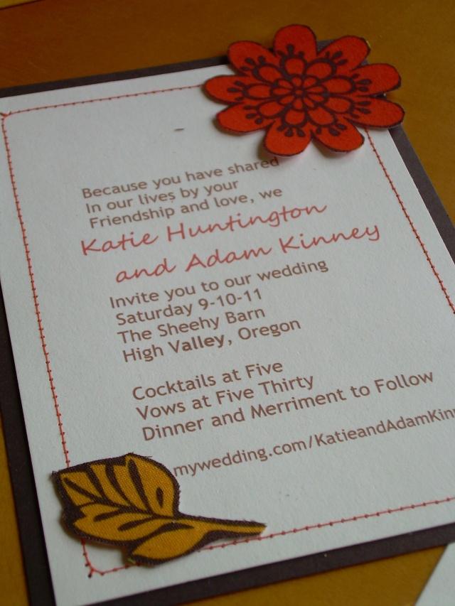 next day wedding invitations%0A Rustic Chic Wedding