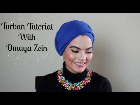 OMAYA ZEIN TURBAN TUTORIAL - YouTube