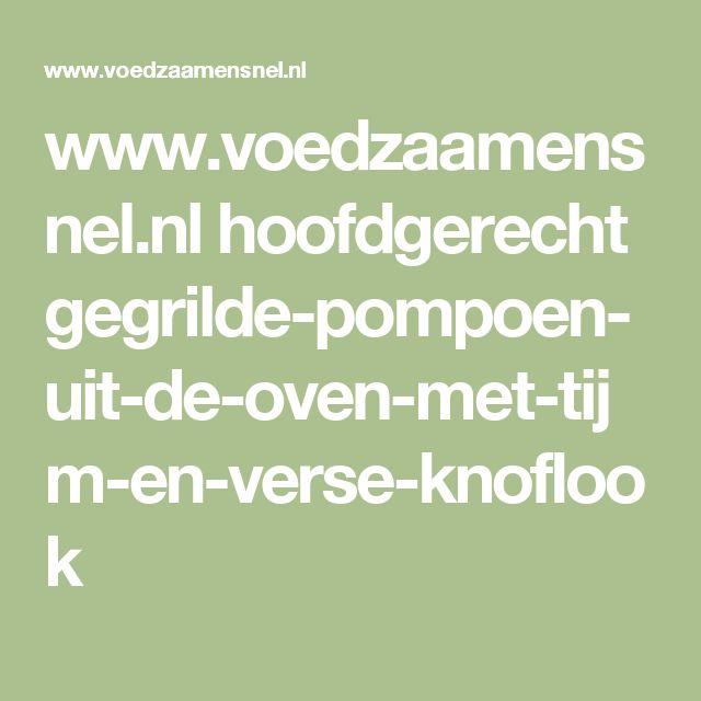 www.voedzaamensnel.nl hoofdgerecht gegrilde-pompoen-uit-de-oven-met-tijm-en-verse-knoflook