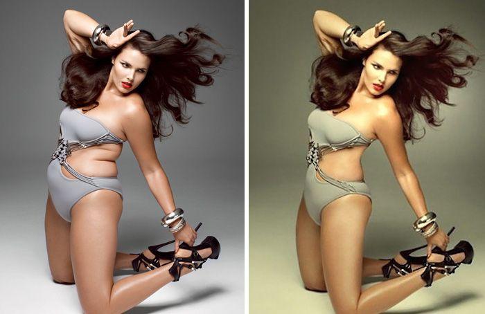 10 photos de stars avant et après photoshop  ca peut piquer les yeux  2Tout2Rien