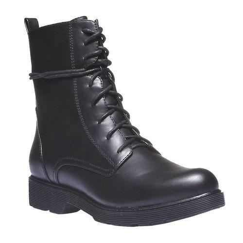 Kotníkové šněrovací boty bata, černá, 591-6247 - 13
