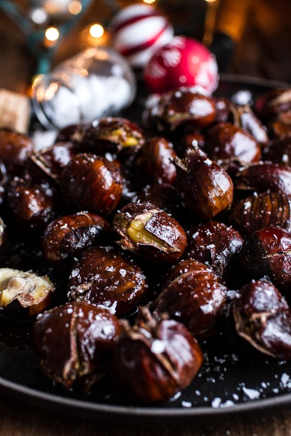 Salted Coffee Butter Roasted Chestnuts | halfbakedharvest.com @hbharvest