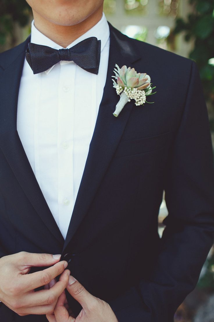#bow-tie, #boutonnierePhotography: Closer to Love Photography - closertolovephotography.comRead More: http://stylemepretty.com/2013/08/19/san-juan-capistrano-wedding-from-closer-to-love-photography/