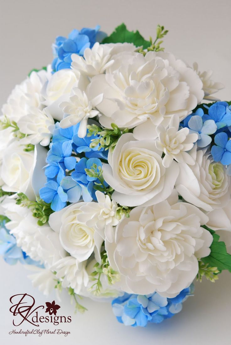 DK Designs: Ivory, White and Blue Bouquet