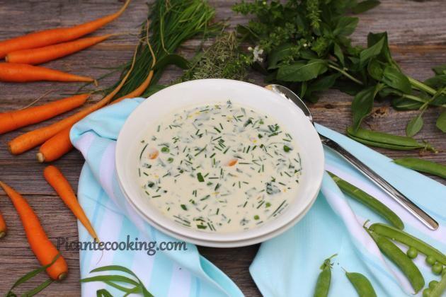 Сливочный суп с травами
