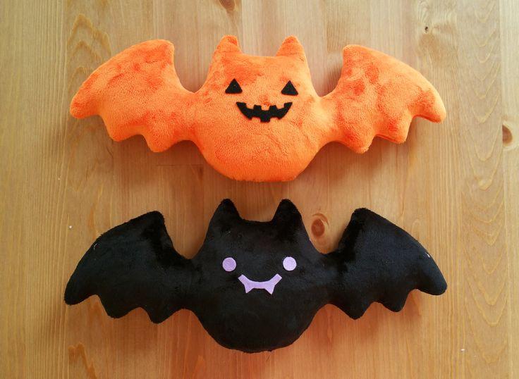 HALLOWEEN Creepy Cute Pumpkin Bat Plush/Plushie - Orange and Black, Jack-o-lantern - LIMITED EDITION by uglyplants on Etsy https://www.etsy.com/ca/listing/249505483/halloween-creepy-cute-pumpkin-bat