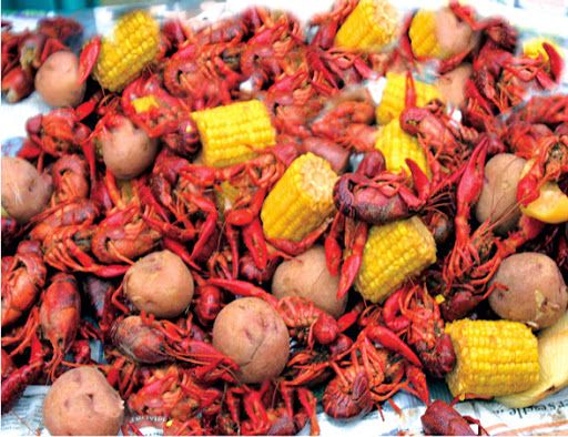True Louisiana Crawfish Boil.  Don't these look yummy!?