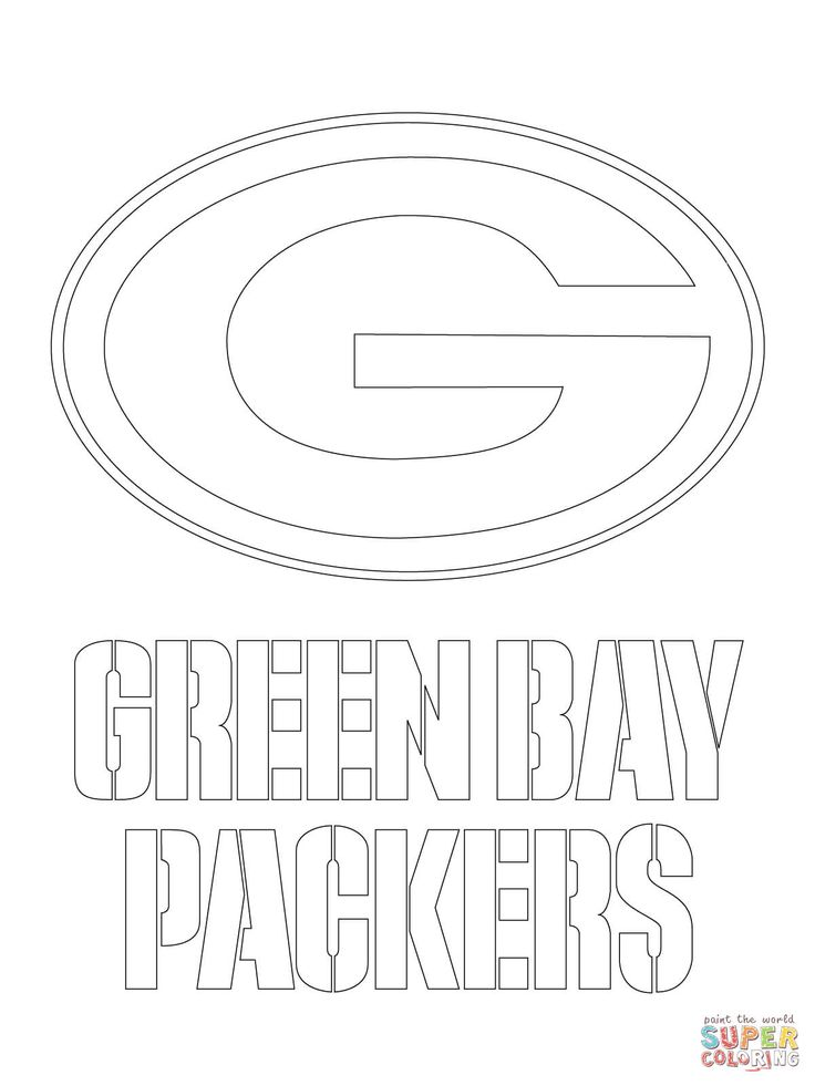 Green Bay Packers Logo Coloring Page From NFL Category Select 24661 Printable Crafts Of Cartoons Nature Animals Bible And Many More